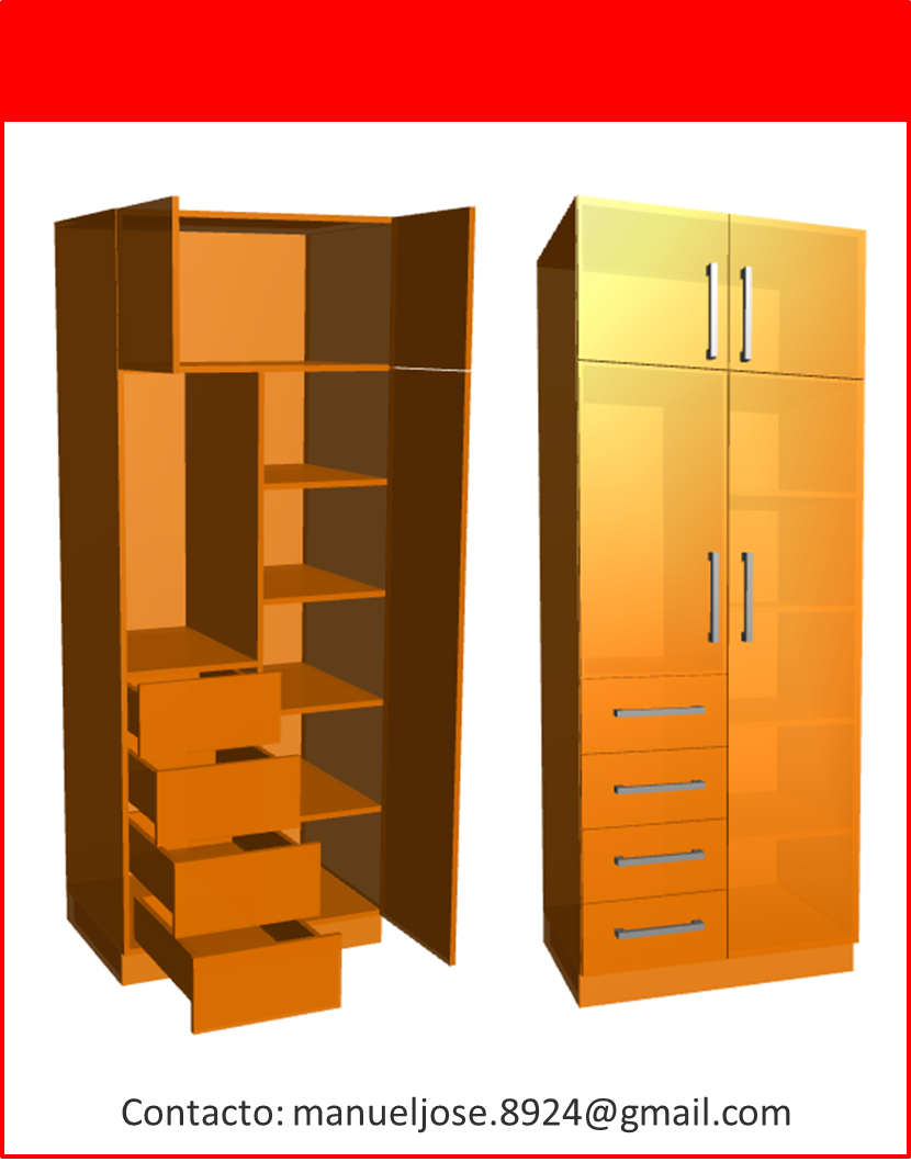 Dise o de muebles madera construcci n de closet modulares for Diseno de muebles software