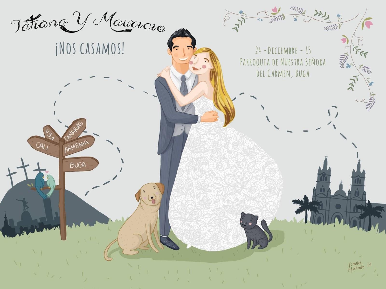 de boda originales ilustradas with invitacion de boda original