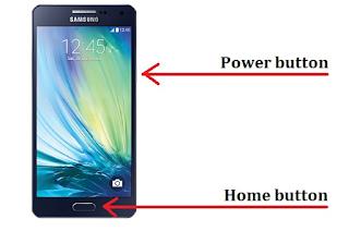 Cara mengambil screenshot di Samsung Galaxy A3
