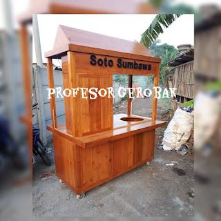 gerobak soto  kayu
