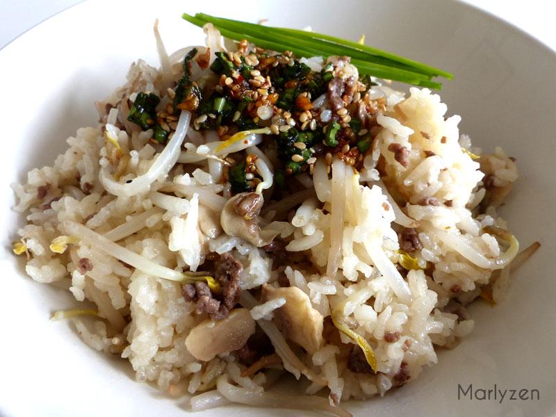 Bol de riz aux germes de soja.