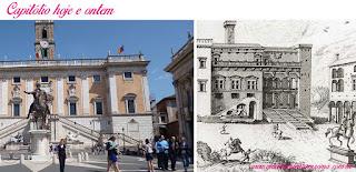 Capitolio fachadas michelangelo desenho medieval - Museus Capitolinos, os museus mais antigos do mundo