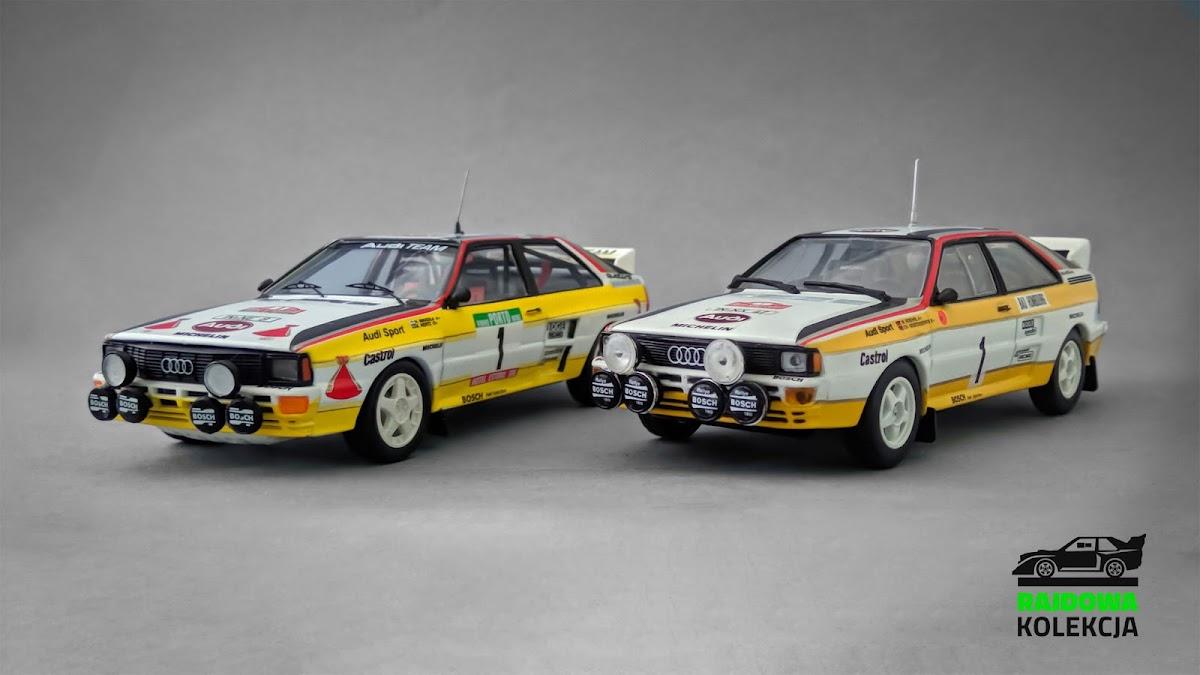 Trofeu vs. Minichamps Audi Quattro A2, 1984