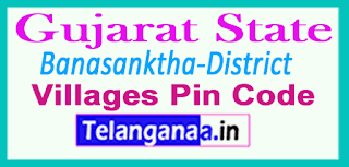 Banaskantha District Pin Codes in Gujarat State