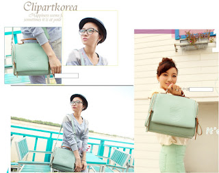 Tas Wanita Model Terbaru Mei 2016 Korea 0227 Retro Double Zipper Bags