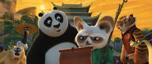 Po reading in Kung Fu Panda 2