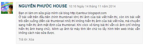 [Tips] - Sửa lỗi không hiện ảnh Thumbnail cho Blogger Blogspot
