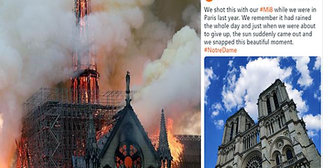 Xiaomi dùng ảnh Nhà thờ Đức Bà Paris quảng cáo điện thoại