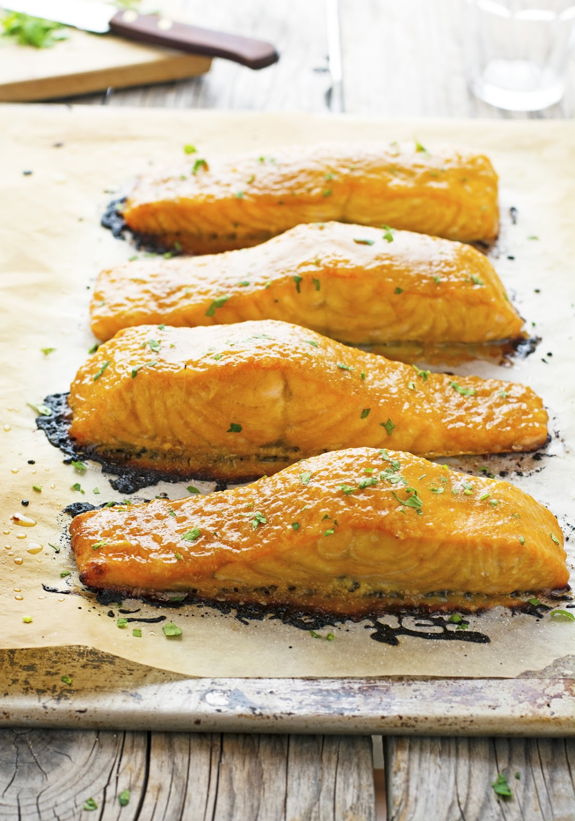 3-Ingredient Brown Sugar and Mustard Glazed Salmon