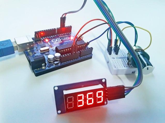 Arduino e módulo TM1637