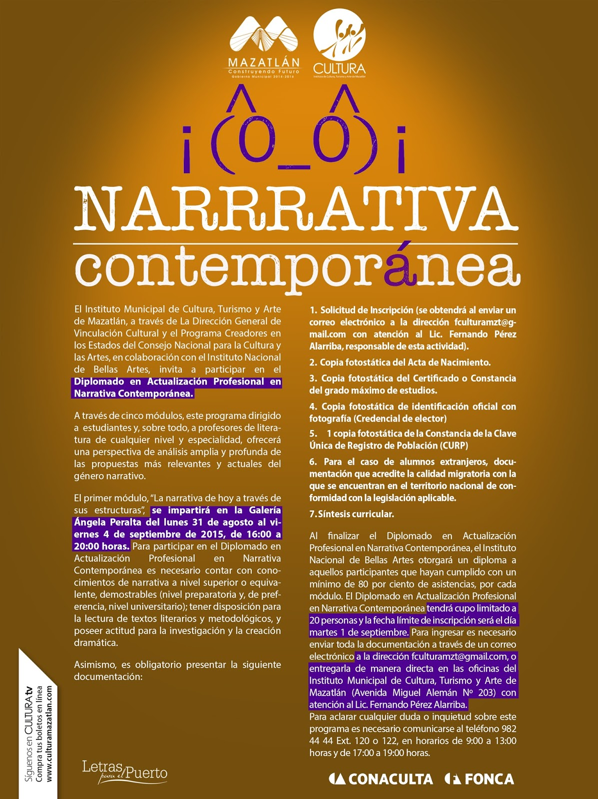 Convocan A Diplomado De Narrativa Contemporánea Entre Veredas