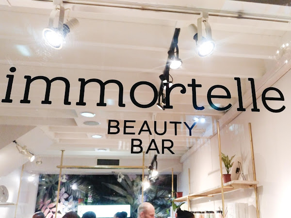 Support Local? The launch of the Immortelle Beauty Bar