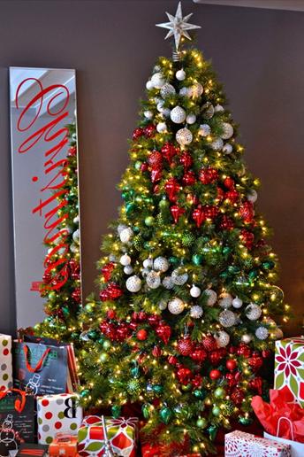 Decoración de colores para el árbol de navidad, como adornar el árbol con esferas, como adornar el arbol con pelotas de colores, como poner las esferas en el árbol de navidad, decoración de árbol de navidad bonito