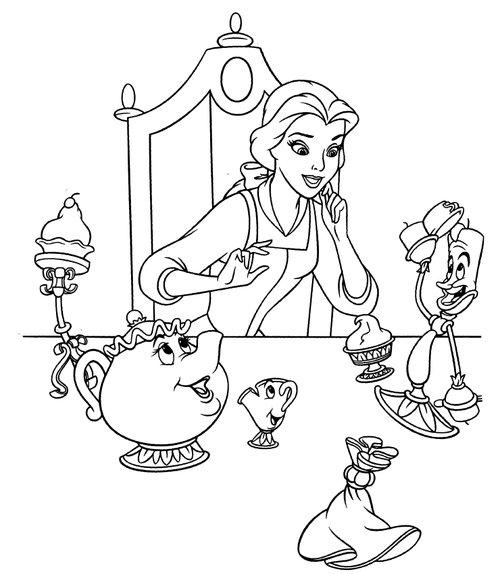 princess belle coloring pages games   Disney Princesses Belle Coloring Pages >> Disney Coloring ...