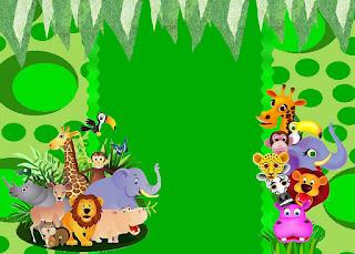 Para hacer invitaciones, tarjetas, marcos de fotos o etiquetas, para imprimir gratis de La Selva Bebés.