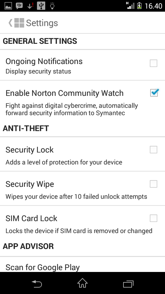 Norton Mobile Security Premium