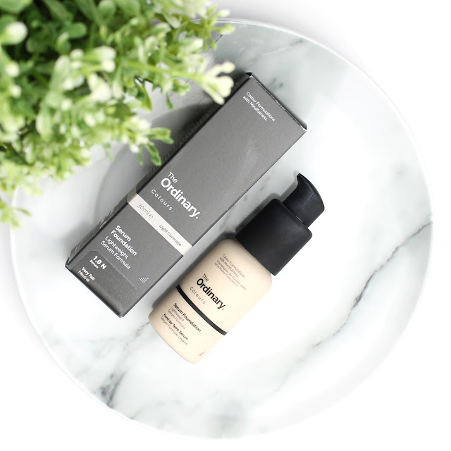 The Ordinary Serum Foundation review swatches swatch wear test