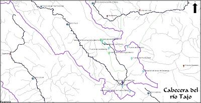 Mapa de la cabecera del río Tajo