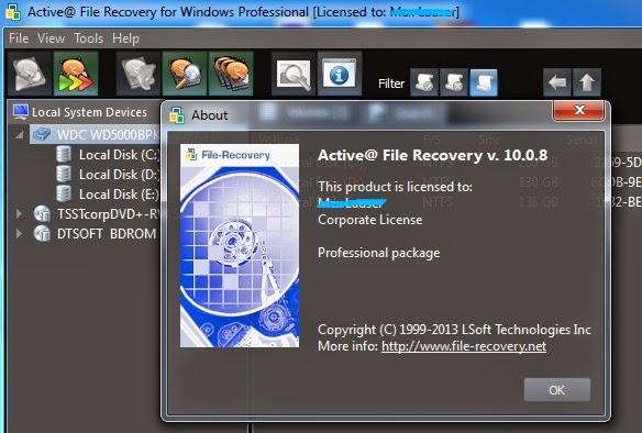 Active File Recovery Pro 10 Full Key โปรแกรมกู้ข้อมูลตัวเต็มฟรี