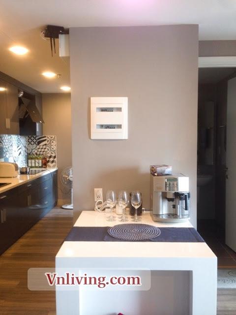 Kitchen Masteri Thao Dien Apartment morden decoration