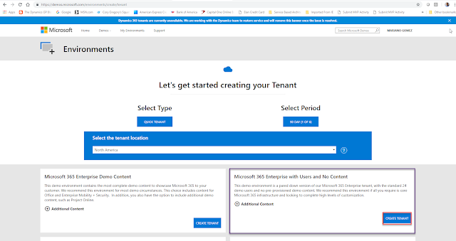 Provisioning a Microsoft Dynamics 365 Business Central demo