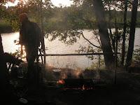 Виктор на реке Желча - главный поисковик ледового побоища Александра Невского