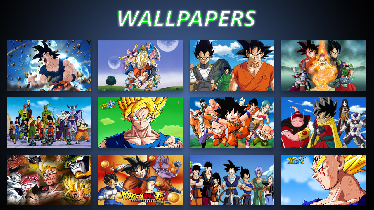 Multi Anime Dragon Ball Super Wallpapers Pack 1