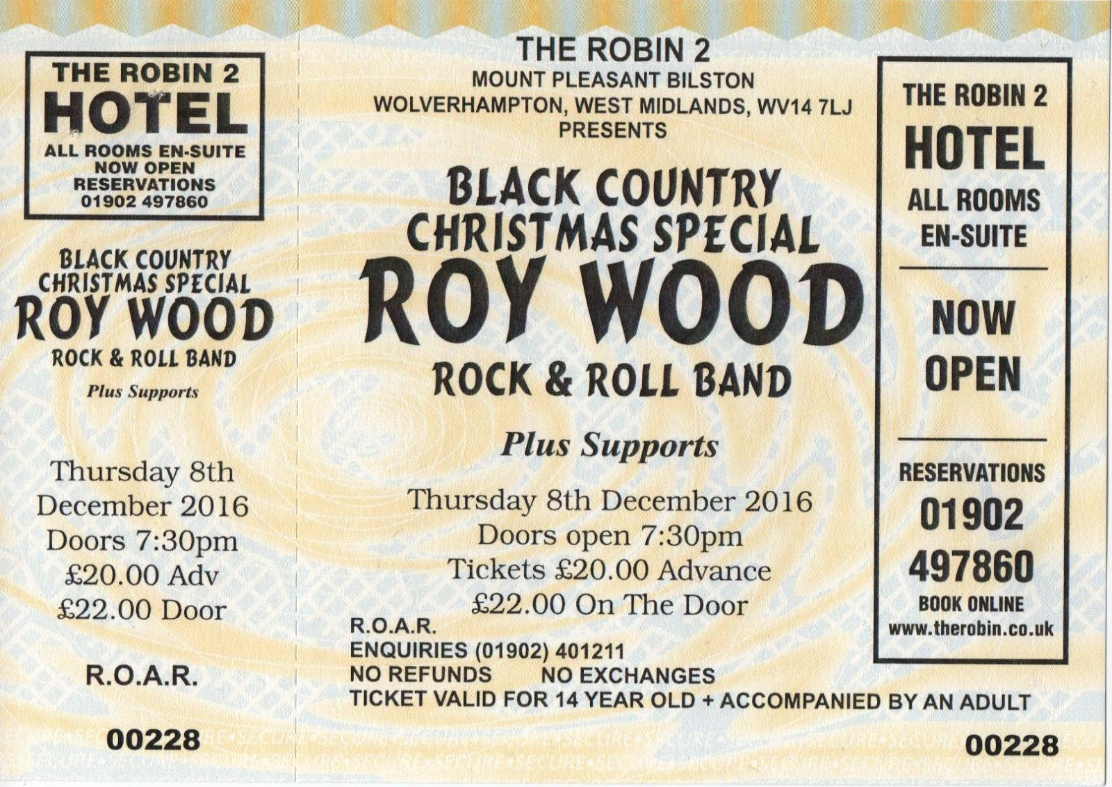 elobeatlesforever: Caught Live [9]: Roy Wood @ The Robin 08/12/16