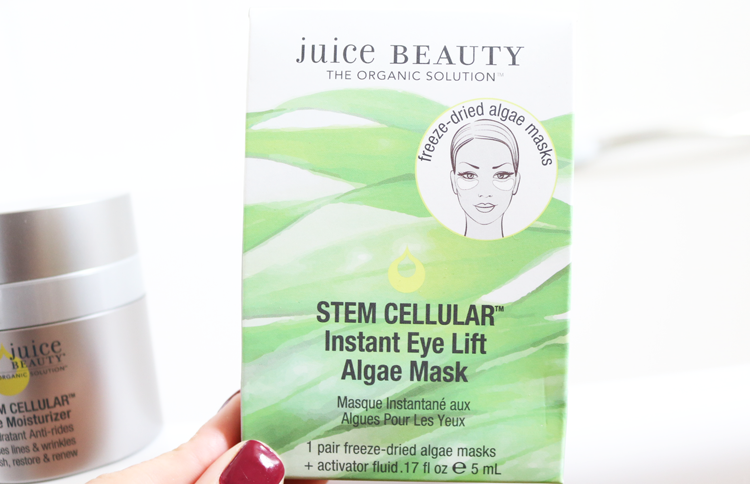 Juice Beauty Stem Cellular Instant Eye Lift Algae Mask review