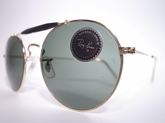 ea79535891 M VINTAGE SUNGLASSES COLLECTION  BAUSCH LOMB RAY BAN ROUND BROW BAR MADE IN  USA