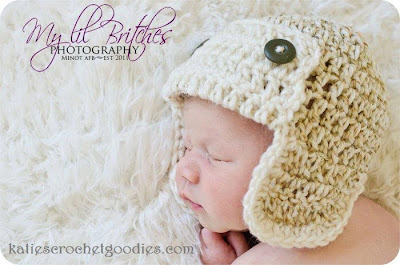 newborn aviator hat