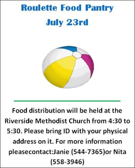 7-23 Roulette Food Pantry