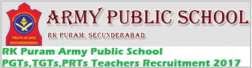 RK Puram #Army  #Public School  #PGTs,TGTs,PRTs #Teachers Recruitment 2017