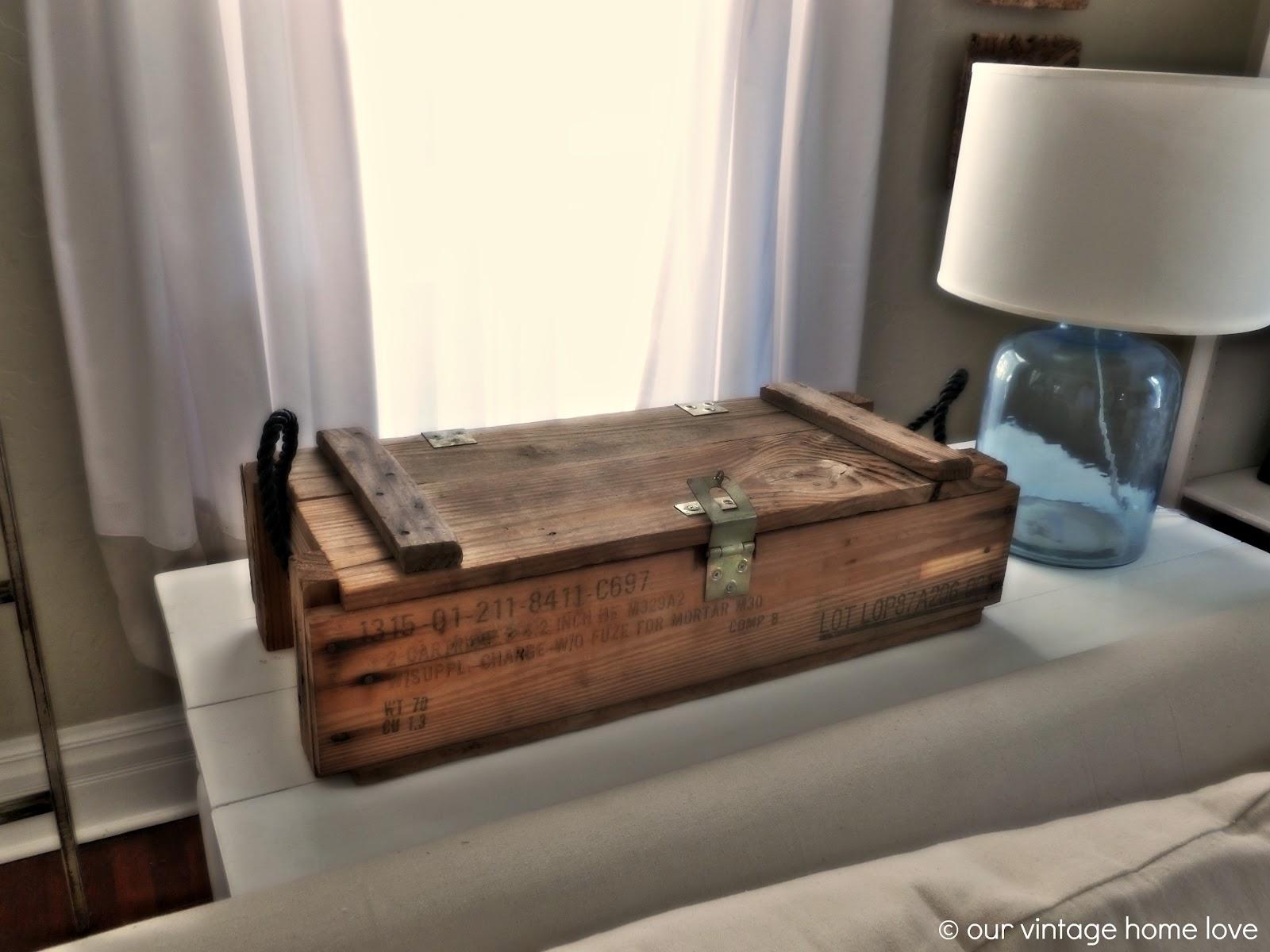 Vintage Home Love Vintage Ammo Boxes