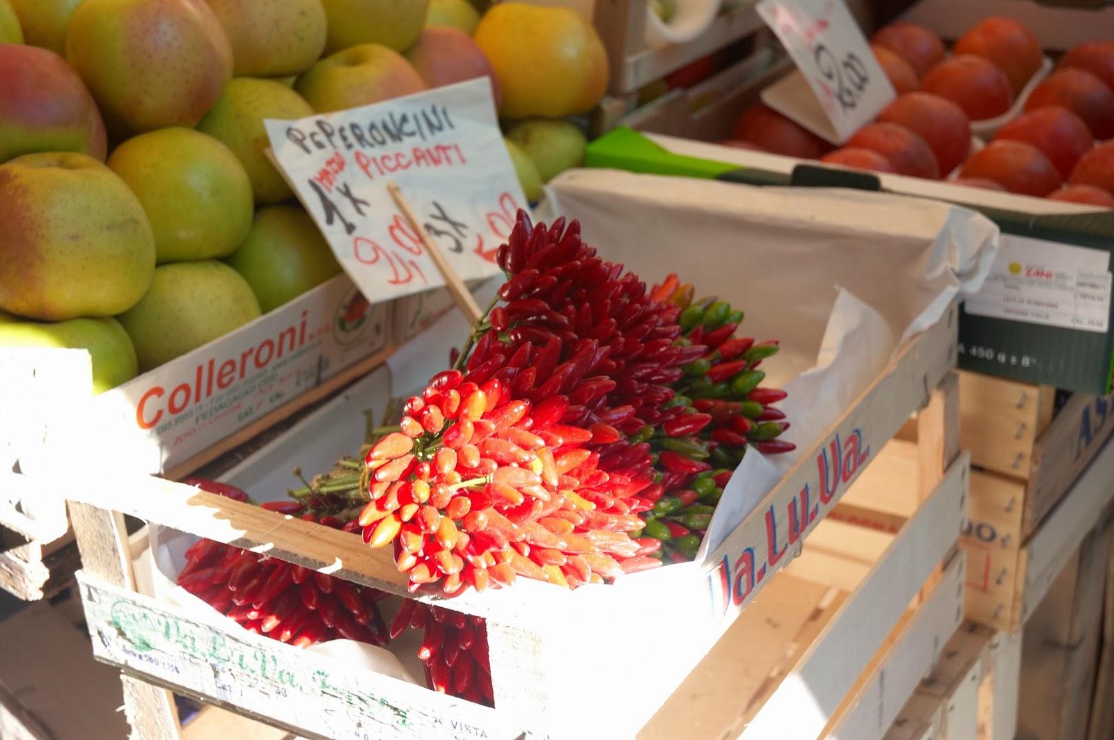targ warzyw i owoców w Wenecji