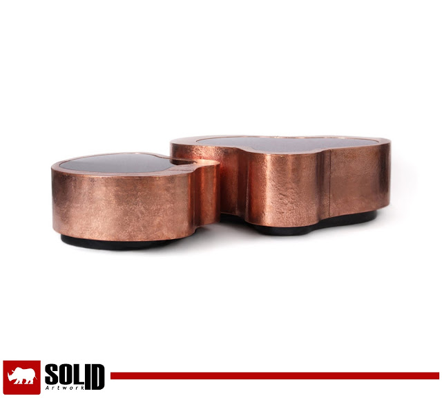 pair wave coffee table