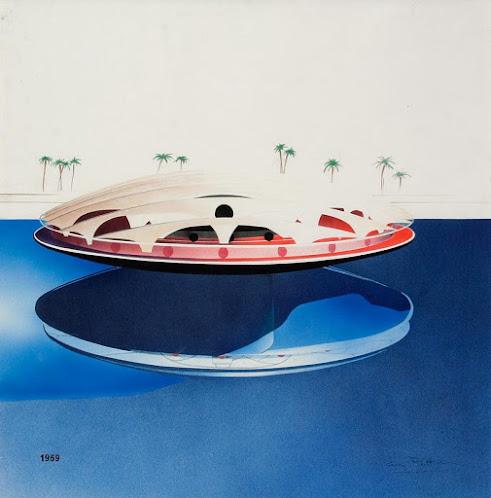 Projet, Bulle en mer, Nice, Guy Rottier 1969