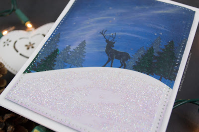 This fun wintery card was created using the Fun Stampers Journey Winter Build-A-Scene ATS, PanPastels, and other supplies.  Video instruction walks you through the creation of the card.