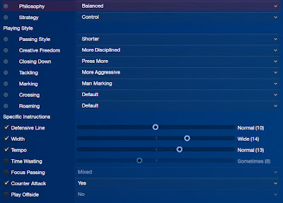 FM13 Attacking tactic team instructions