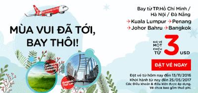 Air Asia siêu khuyến mãi mùa vui tới rồi bay thôi