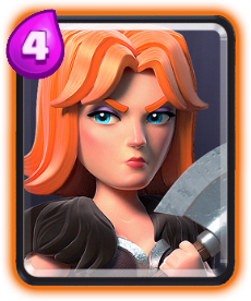 Carta Valquíria de Clash Royale - Wiki da Carta