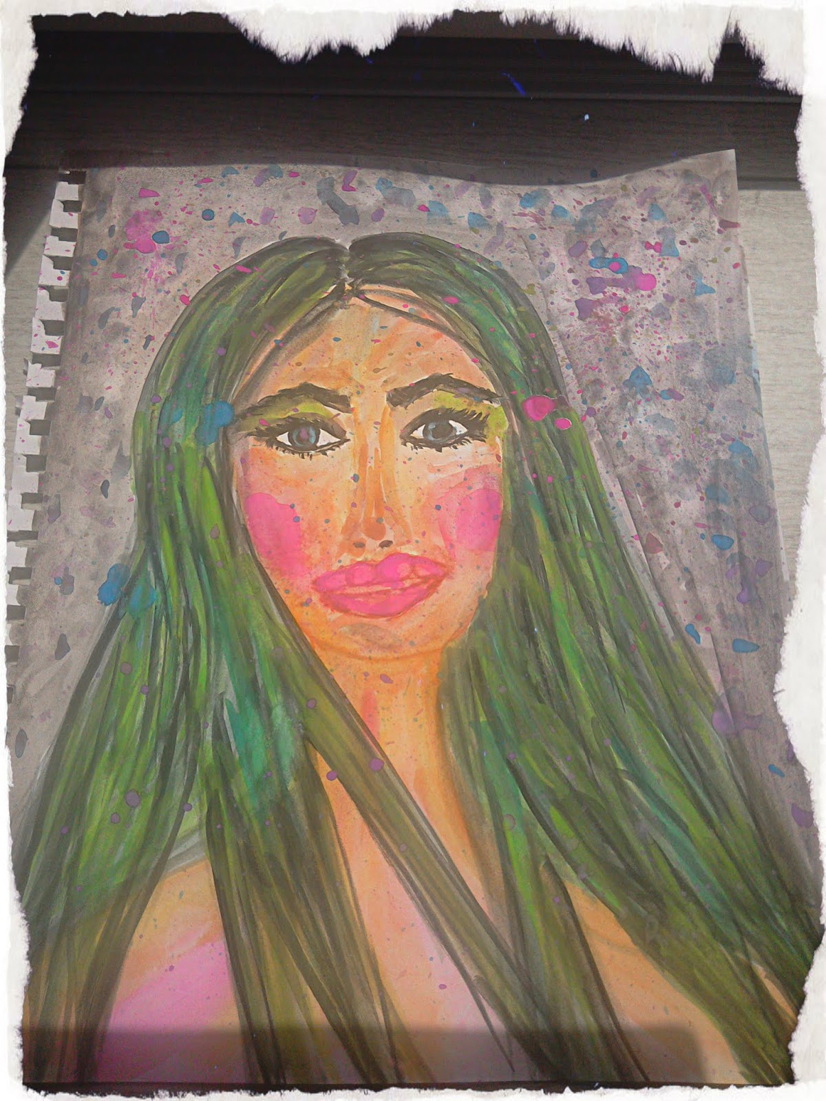 #modaodaradosti girl with green hair