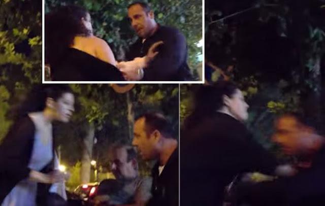 Ανεπανάληπτο βίντεο: Έξαλλη Ελληνίδα οδηγός δέρνει ταξιτζή σε πιάτσα...
