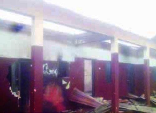 Burnt Catholic school Delta