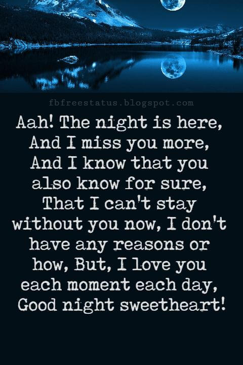 Good Night Poems for Her.
