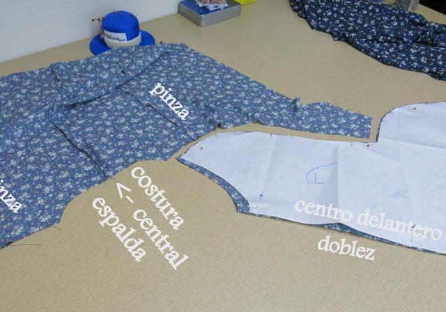 montaje blusa tipo kimono