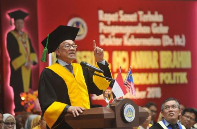 Anwar Ibrahim Sebut Nama Prabowo dalam Pidatonya