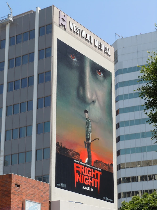 Giant Fright Night film billboard