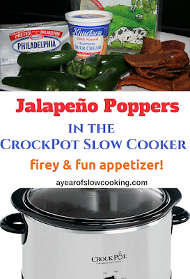 This is a great way to make jalapeño poppers at home! It's a fun appetizer and packs a nice hot firey punch! Use cream cheese, sour cream, and BACON! :-)
