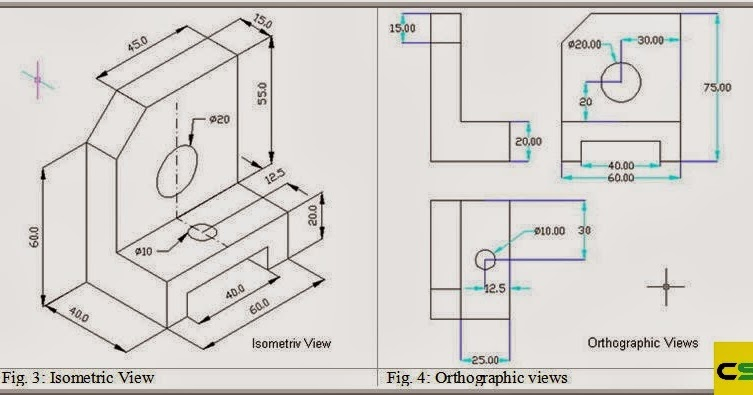 2D Drawing Isometric View and Orthographic View CADDSKILLS - isometric view